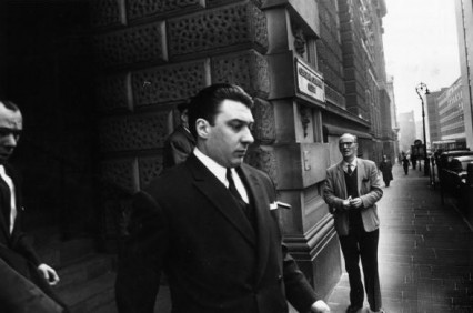 Ronnie leaving the court a free man April 1965