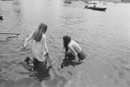 Cooling down in the Serpentine, 1969