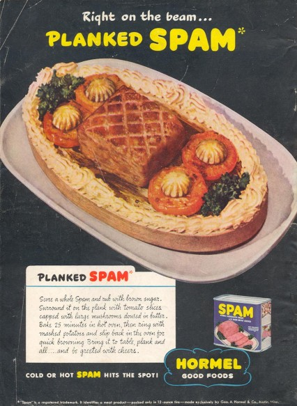 Planked Spam, double yum.