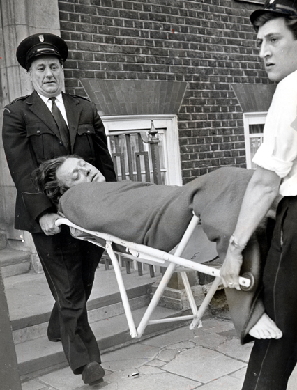 Stephen Ward unconscious after his suicide attempt. He died a few days later.
