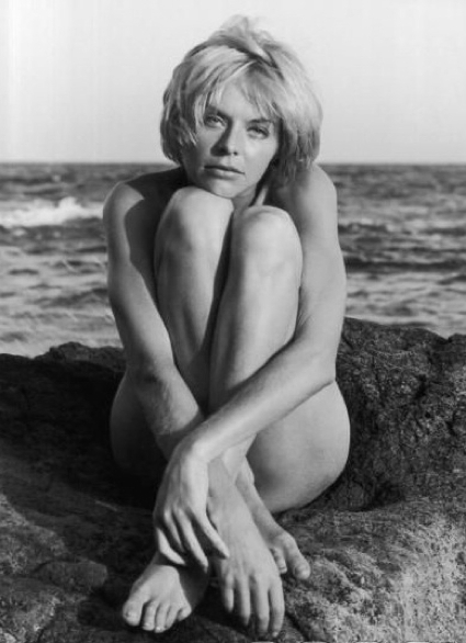 Susannah York during the filming of Duffy