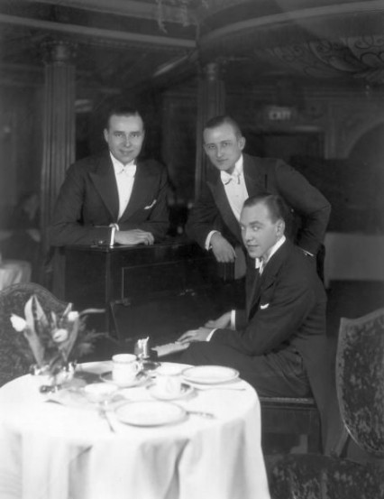 The Three New Yorkers at The Cafe de Paris - John Barney is on the left